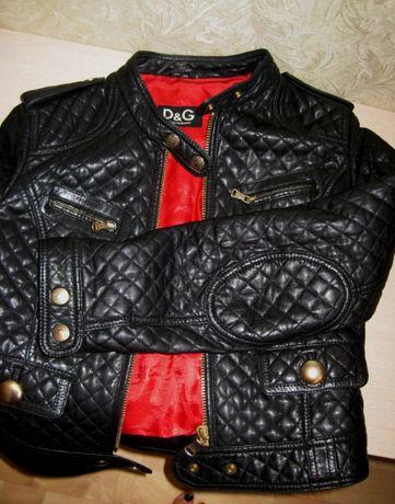 куртка кожаная женская Dolce & Gabbana