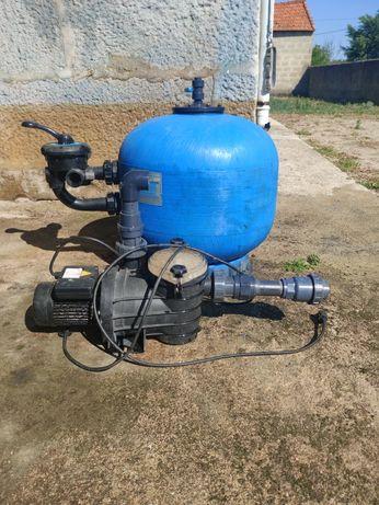 Bomba e filtro de areia para piscinas