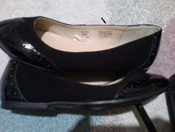 buty nowe- baleriny-skóra!