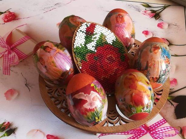 Вышивка бисером по дереву - Подставка для пасхальных яиц