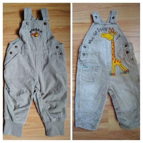 Spodnie ogrodniczki H&M/Next 80