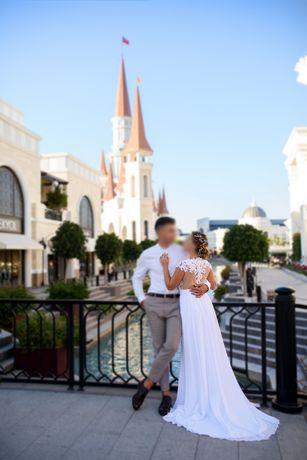 ТОРГ! Свадебное платье, белое длинное платье, платье для фотосессии