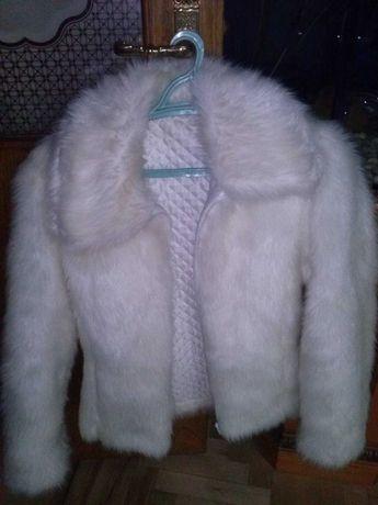 Шуба (Полушубок) болеро (куртка ) біла
