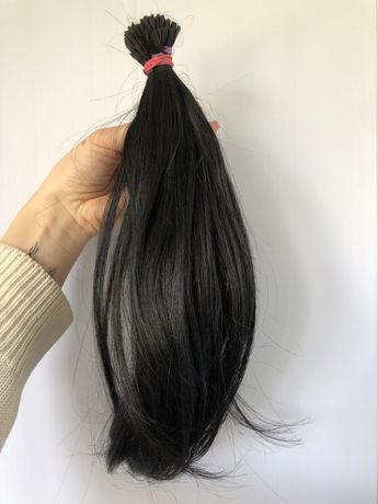 Натуральные черные волосы для наращивания