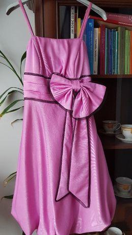 Różowa sukienka - Andiamo - 36