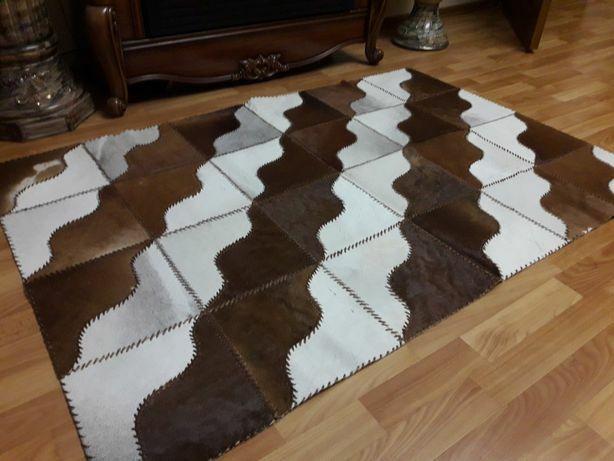 Кожаный ковёр из шкур коров шкіряний килим зі шкір корів