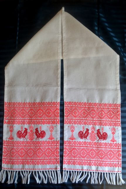 Свадебный рушник ручной работы новый, весільний рушник