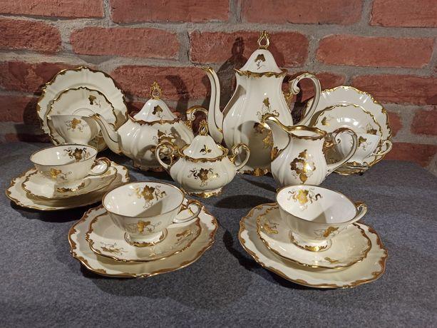 Porcelana SORAU Carstens Złoty Serwis Kawa Herbata 24 K Idealny Stan