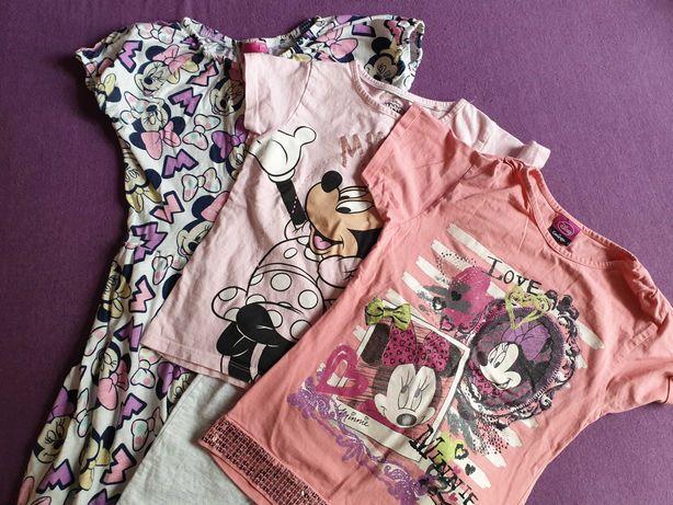 Zestaw bluzka sukienka piżamka 110/116 122/128 134 Myszka Minnie