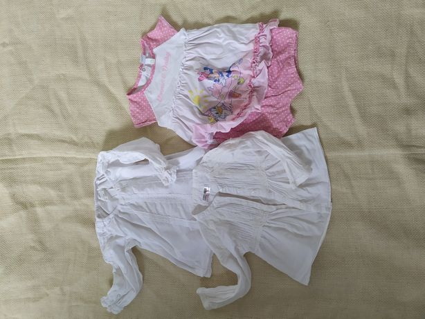рубашка летняя на 1 год zara disney 80 , 86 см набор