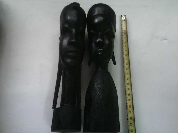 6 Esculturas africanas originais em Pau Preto