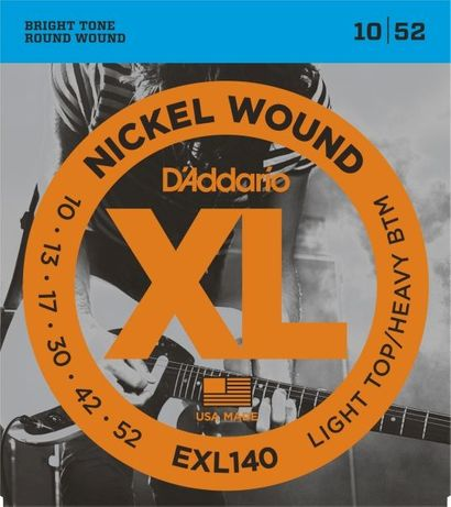 Struny do gitary elektrycznej D'Addario XL Nickel Wound EXL140