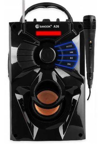 GŁOŚNIK bluetooth BOOMBOX KARAOKE + mikrofon