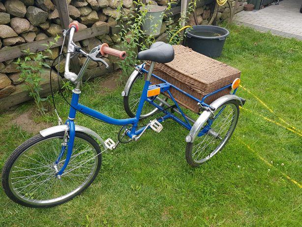 Rower trójkołowy po odrestaurowaniu