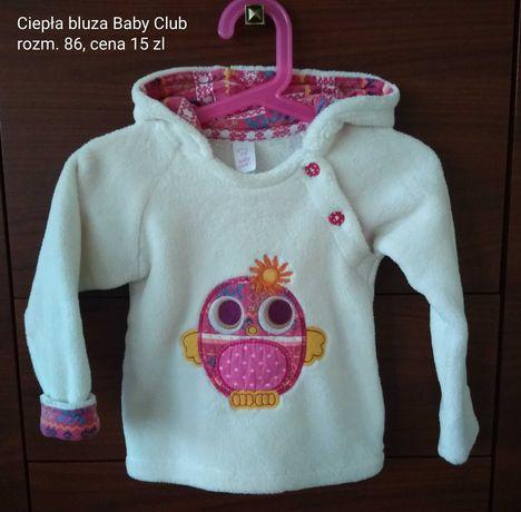 Ciepła bluza Baby Club rozm. 86