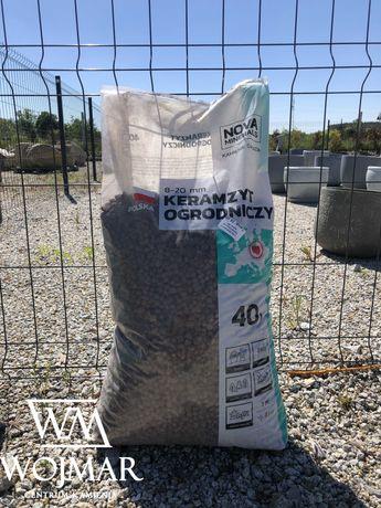 Keramzyt ogrodniczy 8-22mm DO PODŁOŻA Worek 40L drenaż, dno donic.