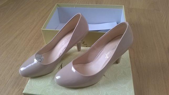 Pantofle Jenny Fairy, nude, rozmiar 37, nowe