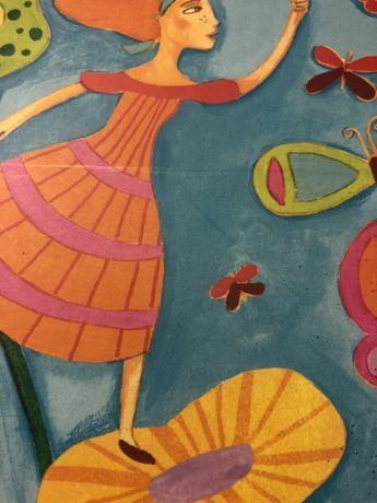 Caixa com telas de pintura e marcadores de ponta fina tipo pincel (Nov