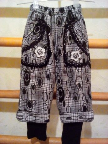 """Теплі зимові штани """"джинси"""" на дівчинку 3 - 4 роки"""