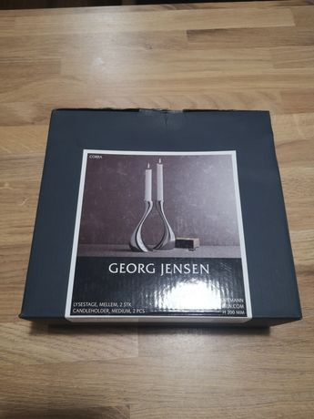 Świeczniki Georg Jensen 20cm Cobra medium