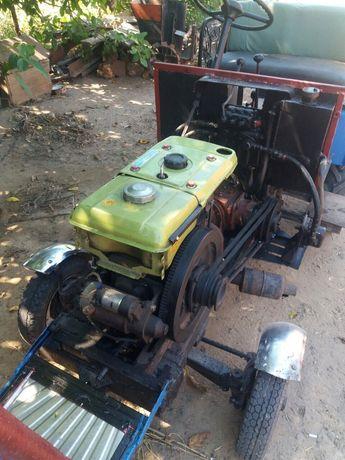 Продам саморобний трактор з копалкою. Двигун-Зубр (дизель)