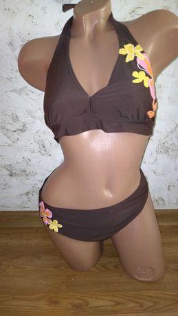 Купальник раздельный XL коричневый