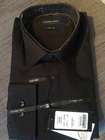 Czarna koszula Giacomo Conti r48 regular 176-182cm