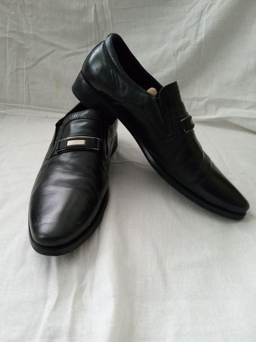 Кожаные черные туфли Кропивницкий - изображение 1