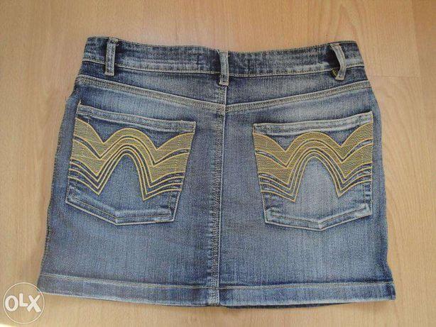 Jeansowa mini spódniczka (z laicrą) ICHI jeans b.young roz.34/roz.XS