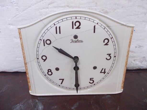 Przedwojenny Niemiecki zegar wiszący kuchenny Junghans