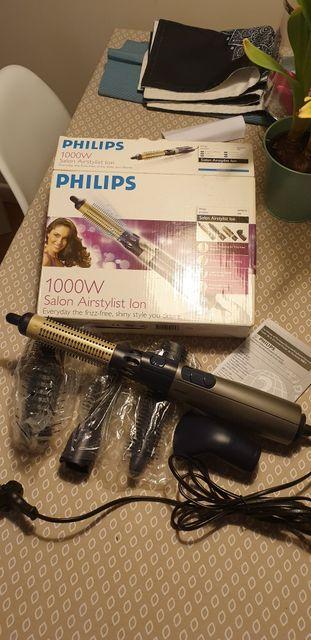 Lokowka, szczotka do modelowania Philips z jonizacja + 4 nasadki