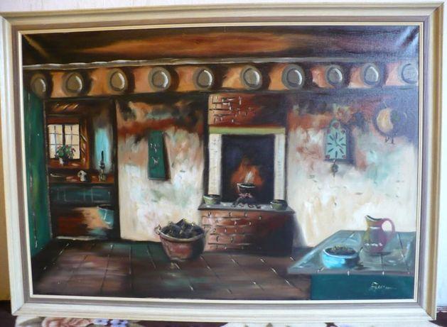 Obraz olejny Izba