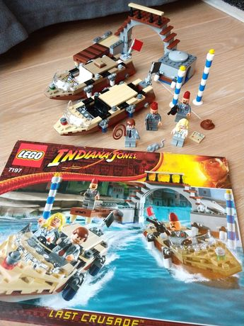 LEGO Indiana Jones 7197 Pościg w Wenecji. Unikat!