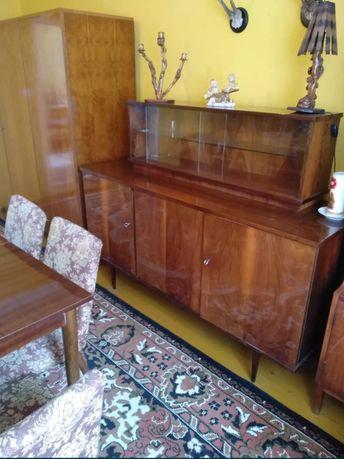 Meble PRL komoda toaletka stół krzesła ława stolik