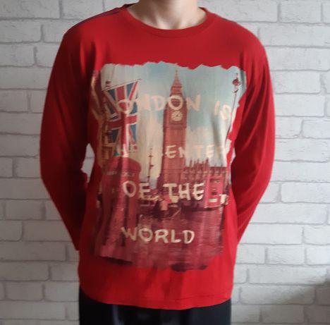 Bluzka długi rękaw chłopiec 140 - 146 koszulka 10 - 11 lat Londyn