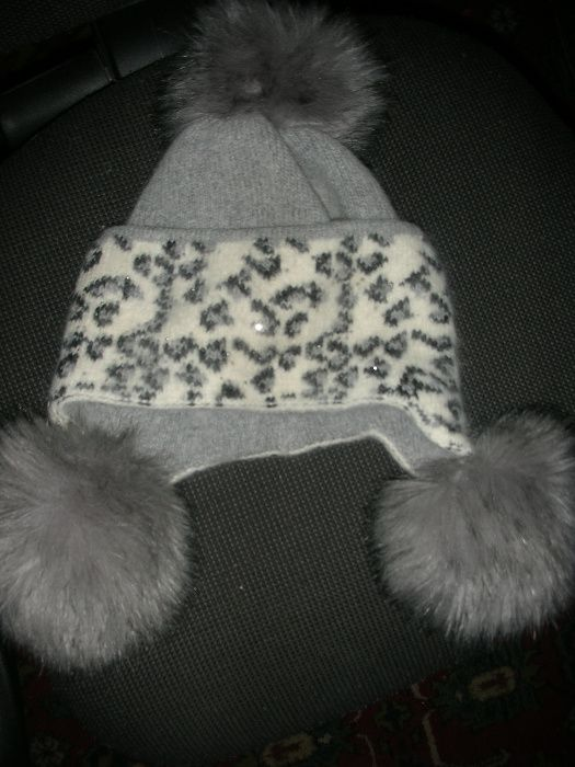 Зимняя шапка из ангоры для девочки Запорожье - изображение 1