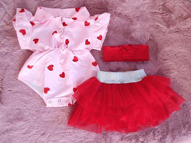Body ze spódniczką i opaska dla dziewczynki