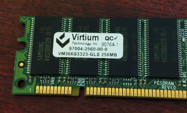 ddr оперативная память 2 шт. (512 мб): virtium vm366s3323-gls 256 mb
