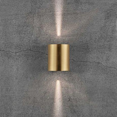 Kinkiet zewnętrzny LED Canto 2, 10 cm, mosiądz NORDLUX