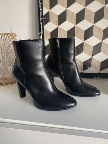 Nowe czarne botki Ryłko 9cm