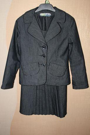 Школьная форма для девочки, пиджак и сарафан (платье) р.128-136