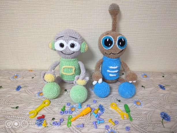 Робот крючком амигуруми игрушка для мальчика