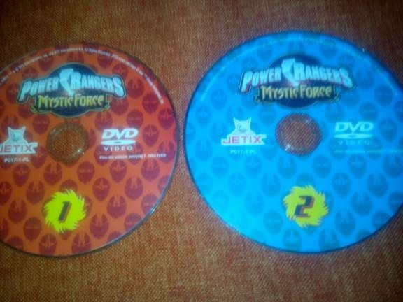 Power Rangers Mistic Force dvd 2 sztuki komplet