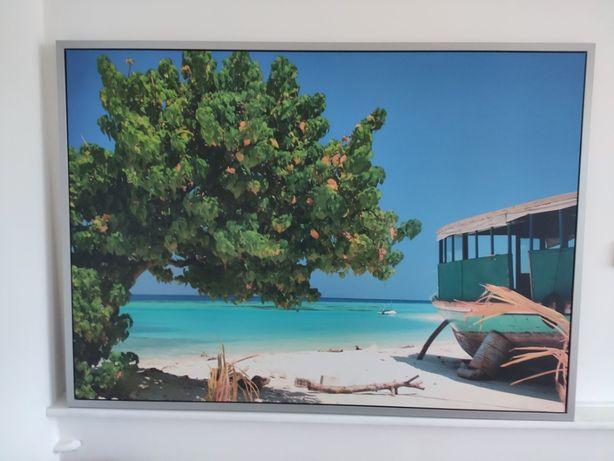 Duży obraz rajska plaża