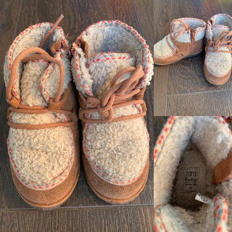 Buty zimowe skórzane ZARA