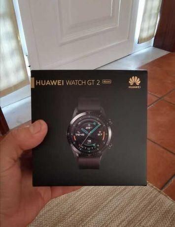 Huawei Smart Watch GT 2 fabrycznie nowy, nie używany czarny i brązowy