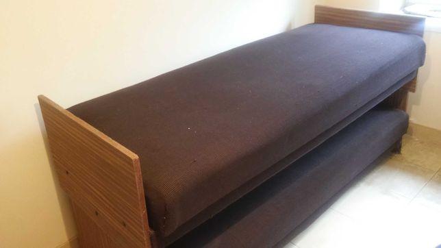 Łóżko-tapczany 2 sztuki szer. 80 cm - oddam!