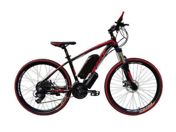 """Электровелосипед MAKE 36V 12Ah 500W рама 17"""", 26"""", цвет чёрно-красны"""