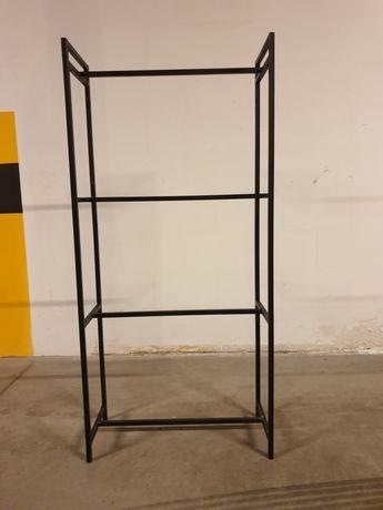 Regał stalowy loft 60cm x 25cm -  stelaż stan surowy