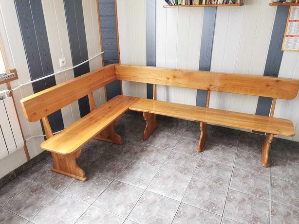 Ławka drewniana z dwóch części (czereśnia)